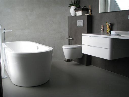 een gietvloer in uw badkamer, woonkamer en/of keuken, Badkamer